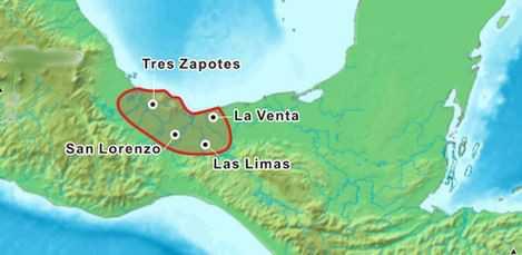 area de desarollo de la cultura olmeca