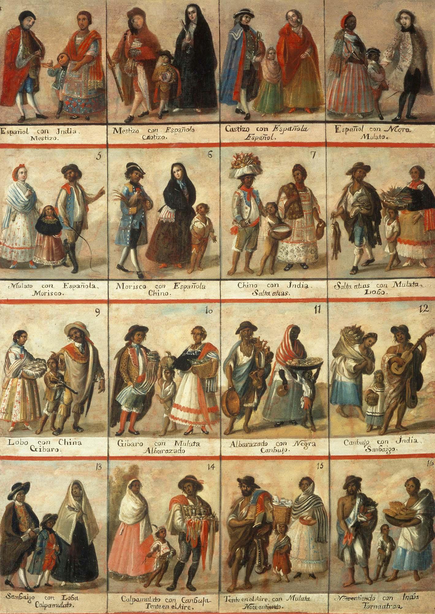 Castas en Nueva España