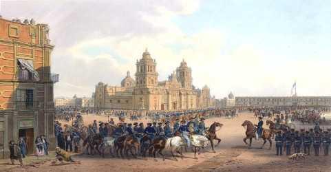 tropas estadounidenses en la ciudad de mexico