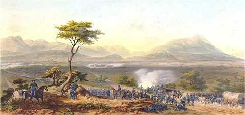 tropas estadounidenses marchando sobre monterrey